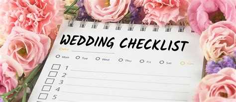 A Checklist before the Wedding Checklist