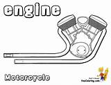 Motorcycle Coloring Motor Motorcycles Pages Cool Engine Printout Ktm Yescoloring sketch template