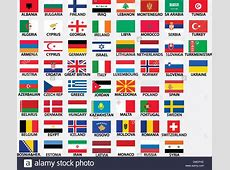national flags of all european countries Stock Vector Art