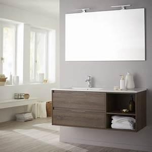 Meuble De Salle De Bain En Solde : achat meuble de salle de bain en 120 cm avec miroir excellent rapport qualit prix ~ Teatrodelosmanantiales.com Idées de Décoration