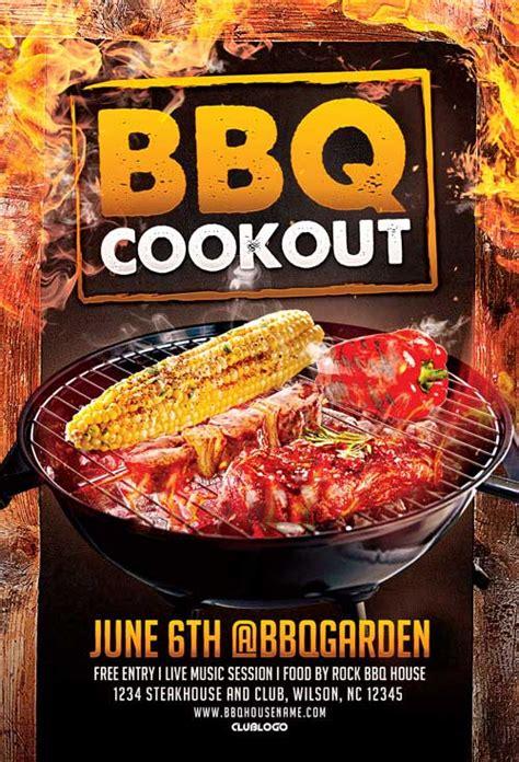 bbq cookout flyer template psd club flyer ffflyer
