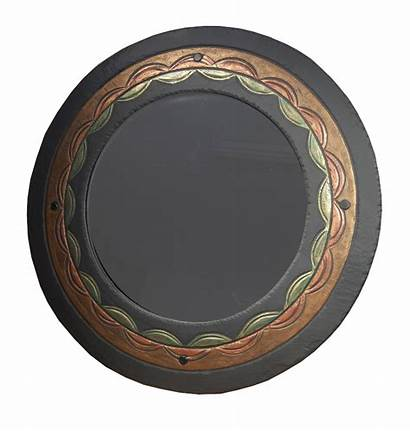 Mirror Round Ornate Slate