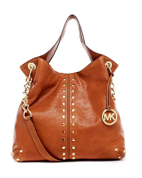 michael kors uptown astor large shoulder tote  brown lyst