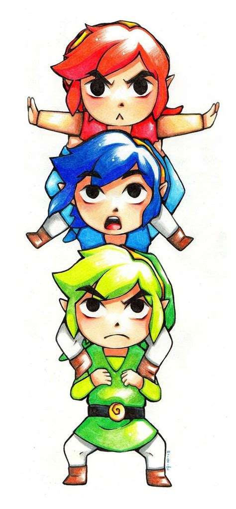 Tri Force Heroes By Kimbolie12 The Legend Of Zelda Tri