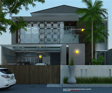desain rumah  lantai minimalistropis modern