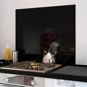 Fond De Hotte Verre : cr dence fond de hotte verre brillant noir 600x750 mm ~ Dailycaller-alerts.com Idées de Décoration