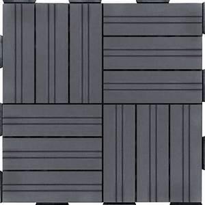 Dalle De Terrasse Composite : dalle composite anthracite 30 x 30 x 2 cm dalle de terrasse rev tement terrasse sol ~ Melissatoandfro.com Idées de Décoration