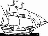 Ship Clip Drawing Clipper Coloring Boat Sailing Cartoon Pirate Clipart Line Sailboat Painting sketch template