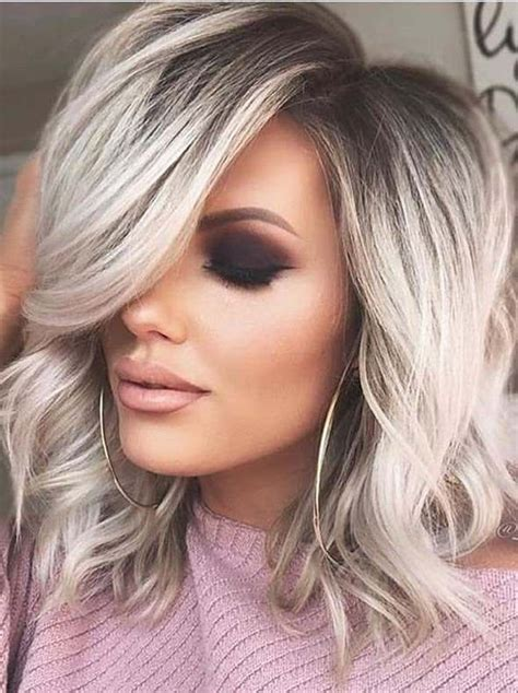Color Hairstyles For Hair by Medium Hairstyles Trends For 2019 Medium