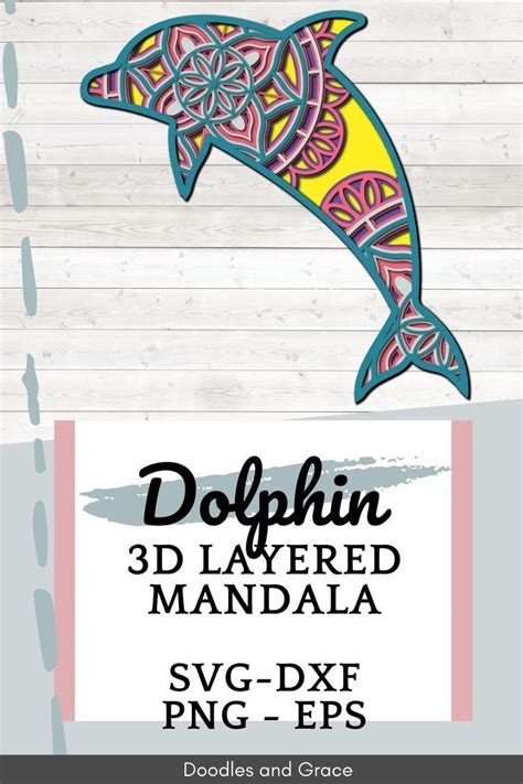 In this crafting category you. Dolphin 3D Mandala SVG Dolphin Layered Mandala SVG Paper ...