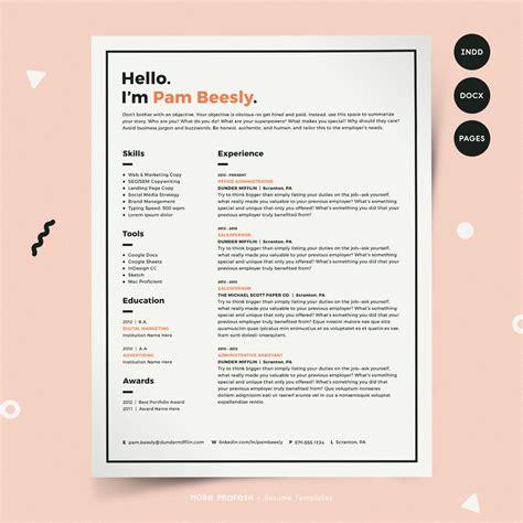 resume template modern resume resume pdf cv template resume template for mac resume