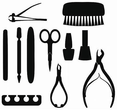 Manicure Pedicure Tool Nail Silhouettes Vector Clip