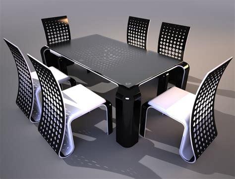 table et chaises design ensemble de table et chaises au design futuriste
