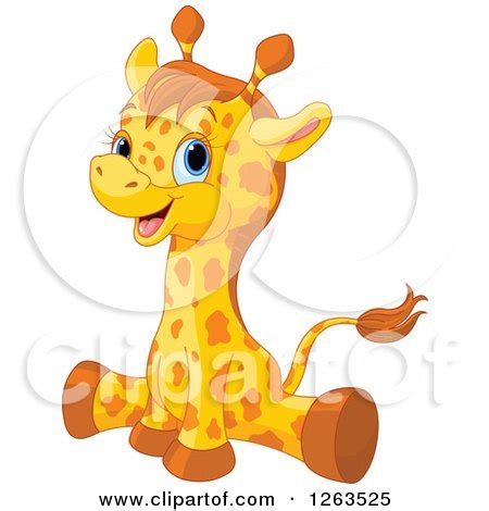 Cute Baby Giraffe Clip Art