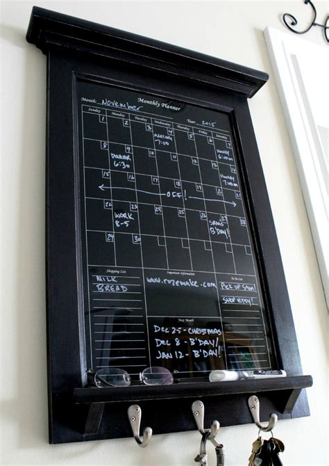kitchen calendar organizer wall decor perpetual black erase calendar family planner 3307