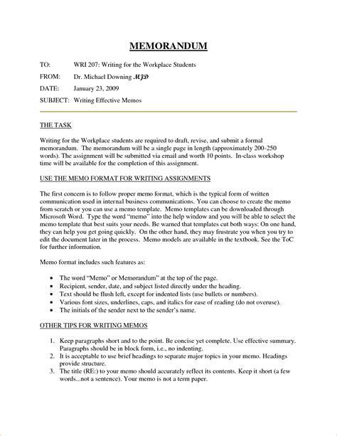 Business Memo Format Template by 10 Business Memorandum Format Memo Formats