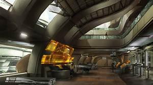 Mass, Effect, 3, Official, Concept, Art, Futuristic, Interior, Design, Future, Building