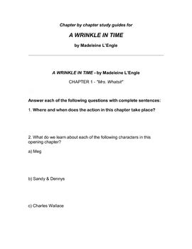 a wrinkle in time unit study by daniel jones teachers pay teachers