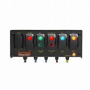Painless Wiring 6 Contour Rocker Switch Panel Fused Lighted 8 75x3 U0026quot  Pw50321