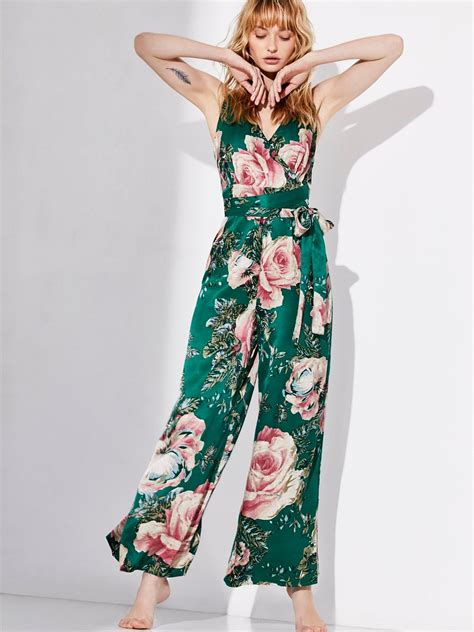 1378 Floral Silky Jumpsuit cabbage romper floral printed silky jumpsuit in a