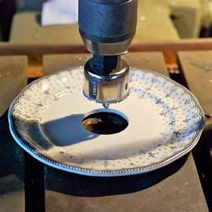 Loch In Porzellan Teller Bohren : einen diy lampenschirm aus einem teller ~ Markanthonyermac.com Haus und Dekorationen