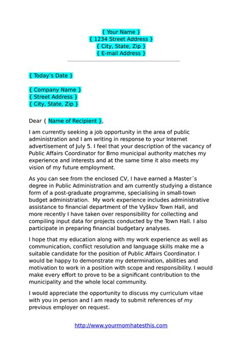 Cover Letter Format by Cover Letter Formats Pdf Template
