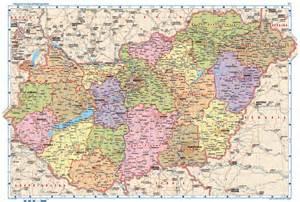 Magyarorszag Hungary Map
