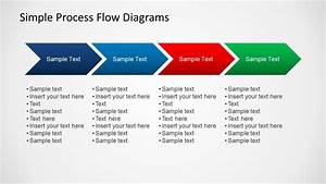 Simple Chevron Process Flow Diagram For Powerpoint