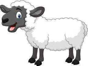 Happy Cartoon Sheep