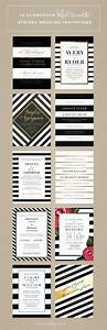 top 10 most glamorous black white striped wedding With wedding paper divas gold invitations