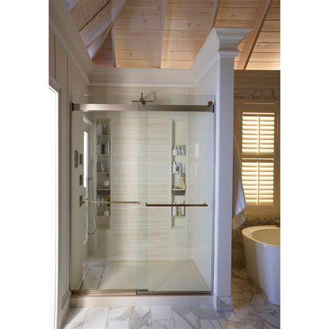 Kohler Shower Door Rollers - kohler levity 59 5 8 in x 82 in heavy semi framed