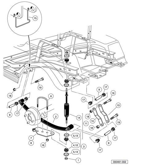 car rear suspension carry all 6 parts club car rear suspension diagram carry