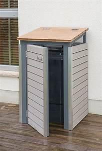 Mülltonnenverkleidung Selber Bauen : m lltonnenbox selber bauen endzustand mit ge ffneter t r ~ Watch28wear.com Haus und Dekorationen