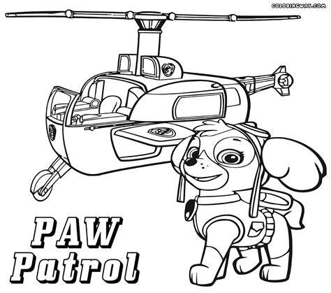 paw patrol coloring pages printable  coloring sheets