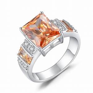 Princess cut 925 sterling silver topaz women39s engagement for Wedding rings under 150