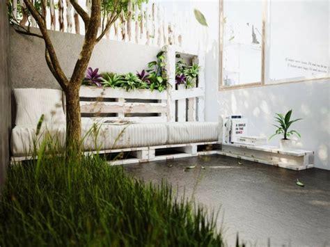 idee deco terrasse pas cher jardiniere en palette de bois