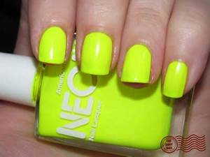 daily nails American Apparel Neon yellow nail art shop
