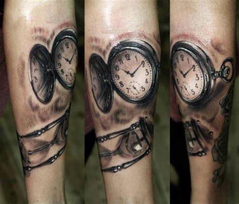 arm realistic clock tattoo  georgi kodzhabashev