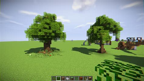 playing   custom trees minecraft