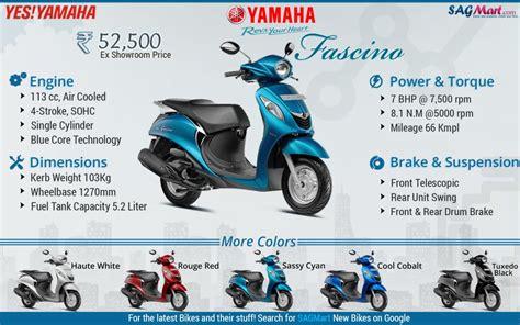 yamaha fascino scooter infographics sagmart