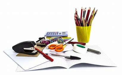 Stationary Stationery Office Pen Paper Rate Isolated