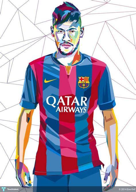 Leo Artwork neymar wpap digital art eno onf touchtalent