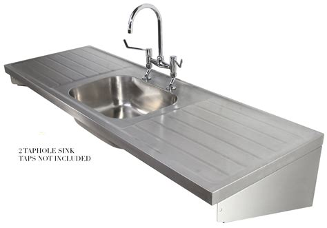 single bowl kitchen sink with drainer twyford ss 1800 x 600mm single centre bowl sink and 9306
