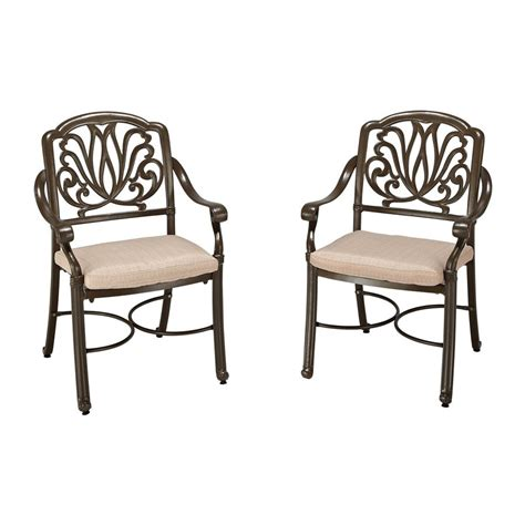shop home styles floral blossom 2 count taupe aluminum
