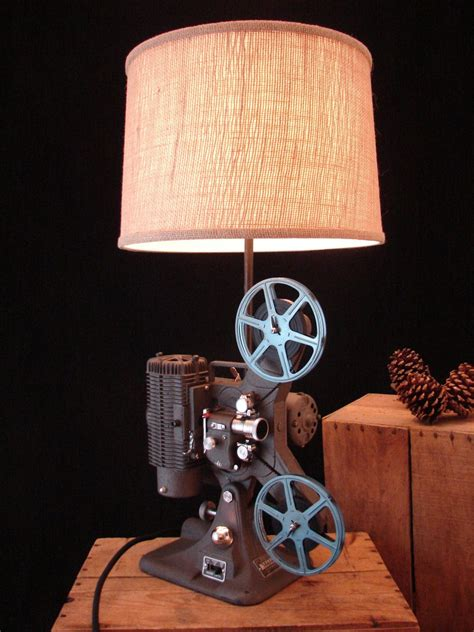 Table Lamp Upcycled Vintage Projector Lamp Upcycle Projector Lamp Creative Lamps Table Lamp