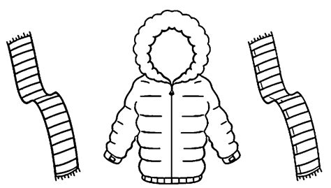 winter scarf coloring pages coloring home