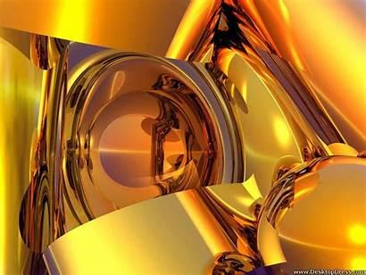 Gold Objects 3d Desktop Wallpapers Backgrounds Digital
