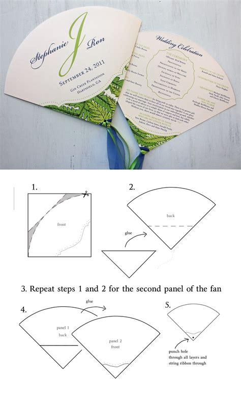 diy wedding program fan with instructions fairytale