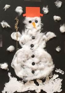 Basteln Winter Kinder : kinder malen und basteln schneemann aus watte ~ Frokenaadalensverden.com Haus und Dekorationen