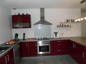 notre cuisine photo 2 3 la couleur des mur c39est gris With couleur mur cuisine grise